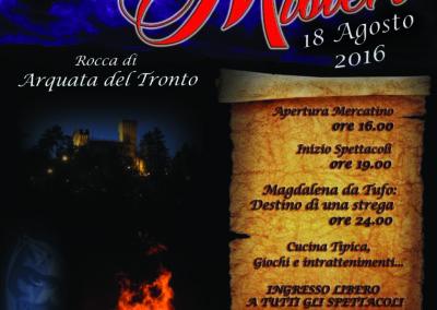 2016 Volantino Notte Misteri